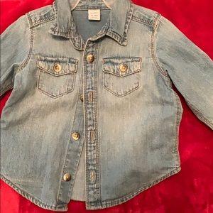 Old Navy long sleeve jean shirt